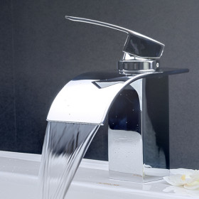 Arian Iris Waterfall Bathroom Basin Mixer Tap